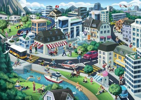 Illustration - David de Ramón - The Mushroom Company - city landscape