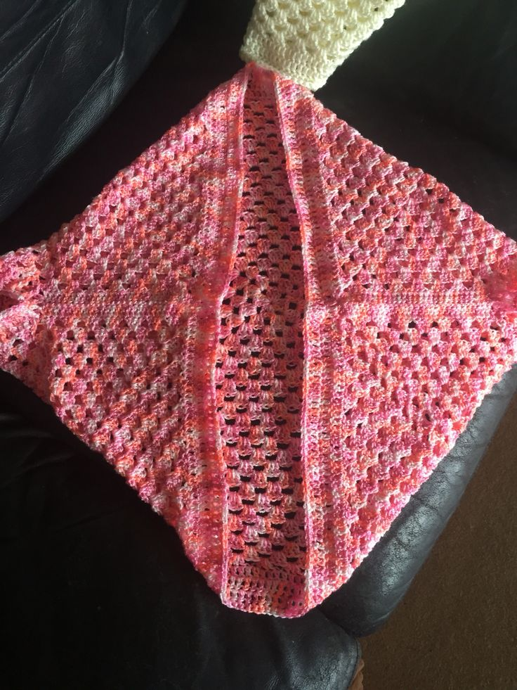 Crochet granny shrug
