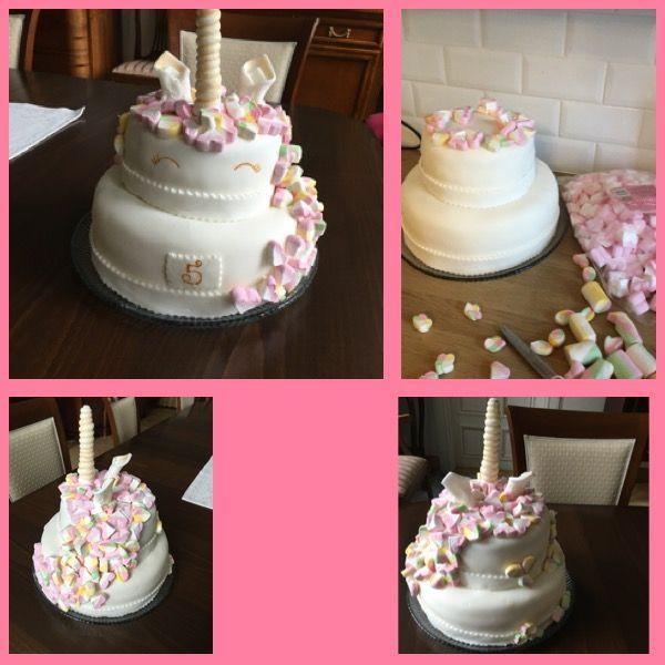Unicorn Cake for Ellis birthday. Happy birthday Elli 5 years old ❤️. Best regards from GrandMam 10/2017