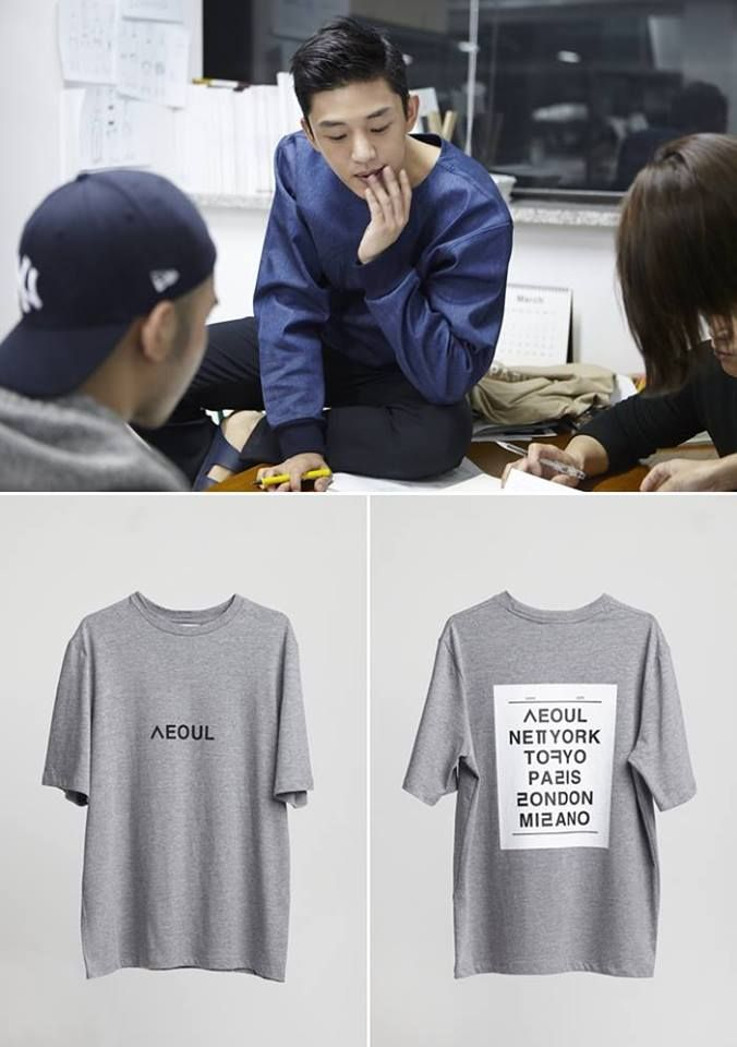"Yoo Ah In Designs Shirts For Charity in The ""Hangeul Fashion"" Project. Here's The Process 