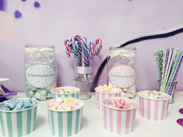 Frozen Party - Candy Buffet Corner