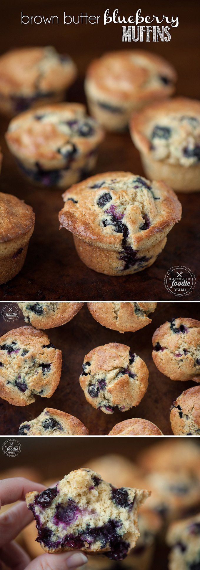 These buttermilk Brown Butter Blueberry Muffins rise beautifully & finish with a nice crispy top. They're perfect for brunch or a breakfast treat on the go.