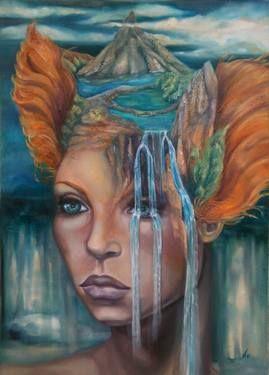 "Saatchi Art Artist Violetta Tar; Painting, ""Ideal landscape"" #art"