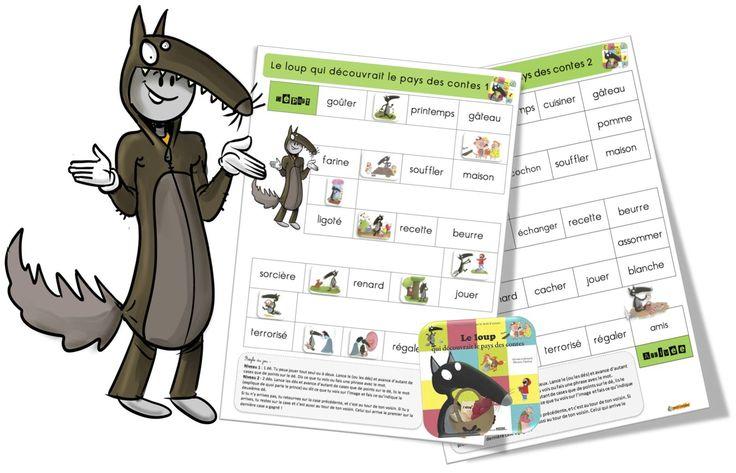 Jeux de l'oie : Le loup qui découvrait le pays des contes - Bout de gomme
