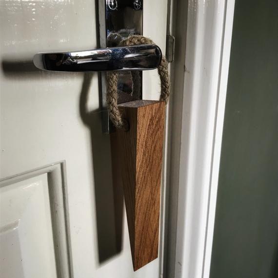Pair Of Handmade Oak Door Stop Door Wedge Made From English Etsy Oak Doors Doors Interior Doors