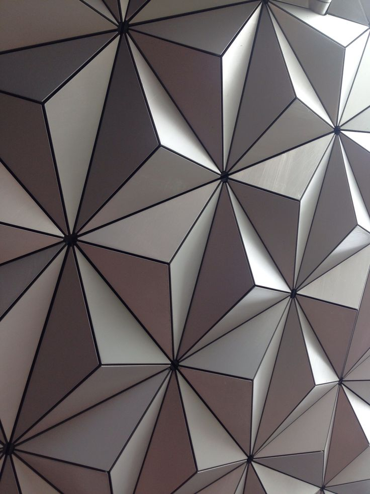 Epcot Globe, faceted surface at Disney.