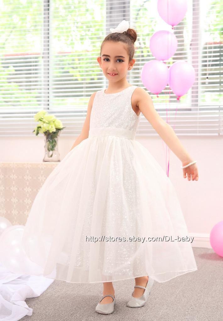Flower-girl-dress-Formal-Wedding-Princess-Prom-Bridesmaid-Christening-Dress
