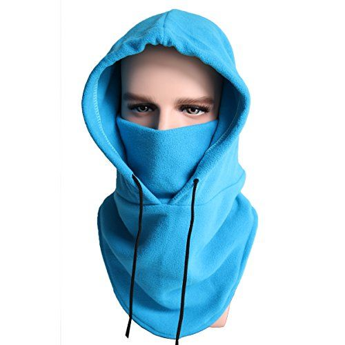 XINGZHE Balaclava Fleece Hood Windproof Ski Mask Heavyweight Cold Weather Winter Motorcycle Snowboard Gear Ultimate Protection from The Elements Blue