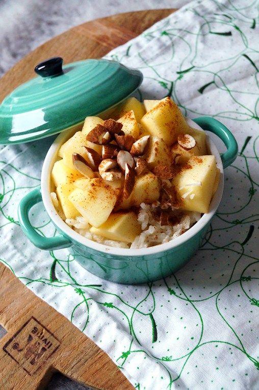glutenvrije rijstpudding met appel en kaneel