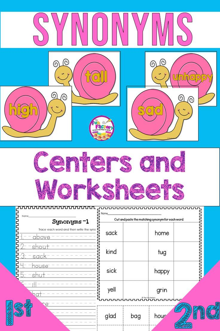 Synonym Practice For Your 1st Grade First Grade And 2nd Grade Second Grade Students Is Fu Synonym Activities Elementary Lesson Teacher Classroom Elementary