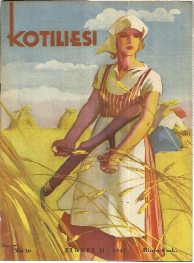 Kotiliesi 16/1941 (Cover Martha Wendelin)
