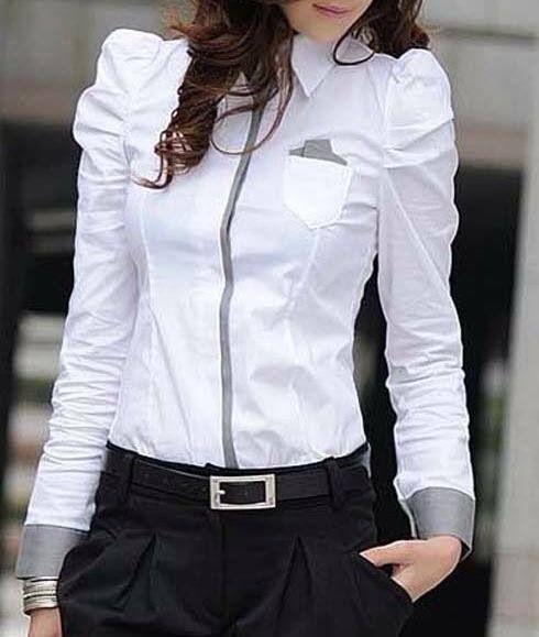 Blusa manga larga detalles en gris