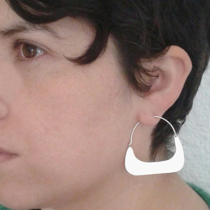Look this earrings, different finishes. Ethnic silver earrings.