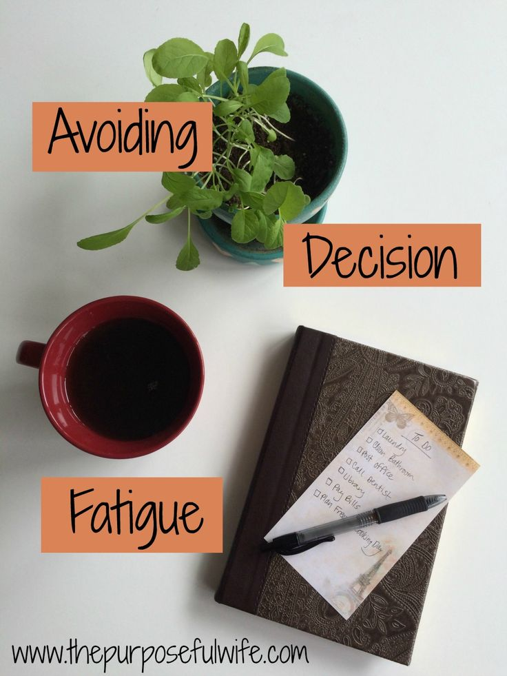 Every day decision making can really drain your ability to function well as a wife and mom. Some simple tricks to avoid decision fatigue!