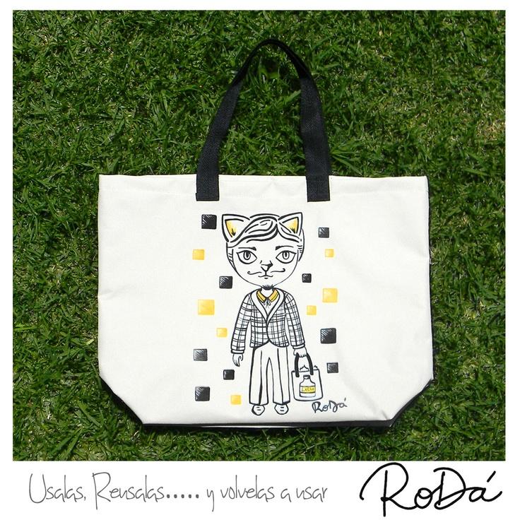 Modelo Valen, bolsa reutilizable estampada de cordura con diseños originales ! conseguila en http://tienda.rodabolsas.com/index.php