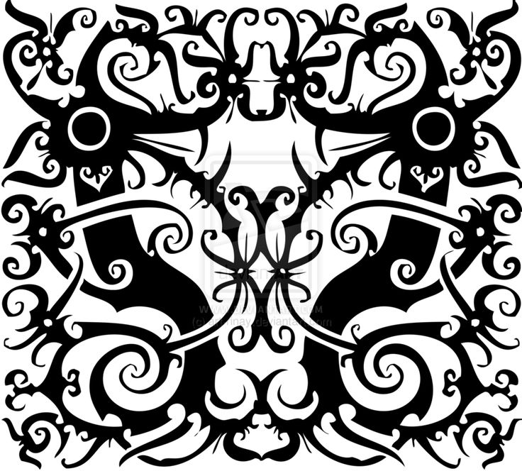 Tracing - Indonesian Dayak Pattern by art-rinay.deviantart.com on @deviantART