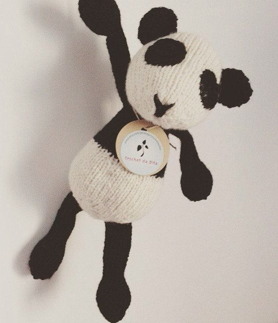 Made to order - soft plush - baby toy - newborn gift - ecological toy - Tilda the scared Panda by crochetdadita on Etsy