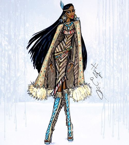 Disney Divas 'Holiday' collection by Hayden Williams: Pocahontas| Be Inspirational❥|Mz. Manerz: Being well dressed is a beautiful form of confidence, happiness & politeness