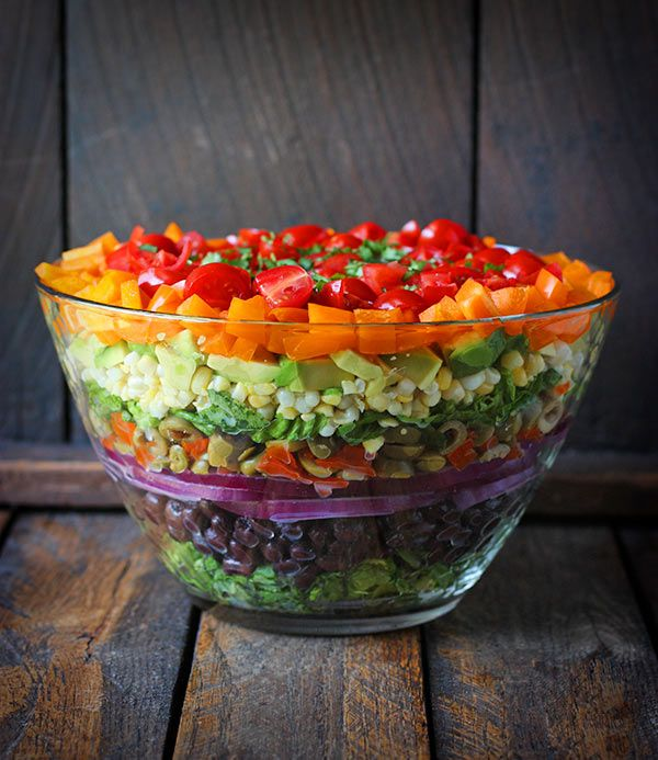happyvibes-healthylives:  Seven Layer Salad