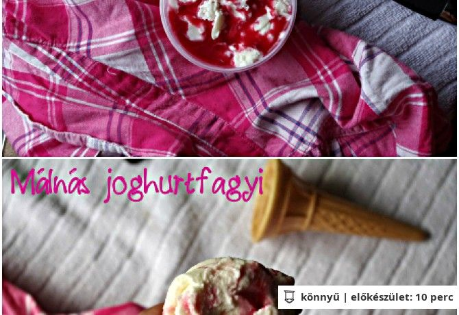 Málnás joghurtfagyi