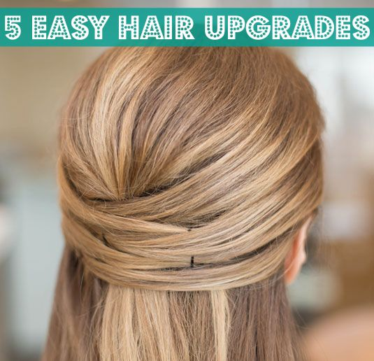 All it takes is a few bobby pins and hair elastics to try a new look.
