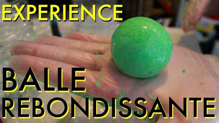Comment fabriquer une balle rebondissante! Une expérience pour les plus grands!