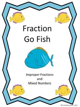 Fraction Go Fish (Improper Fractions and Mixed Numbers)