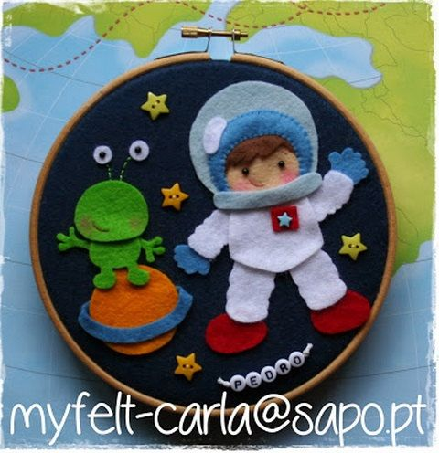 Hey, I found this really awesome Etsy listing at https://www.etsy.com/listing/176363117/astronaut-wall-art-hoop-felt-bow-wreath