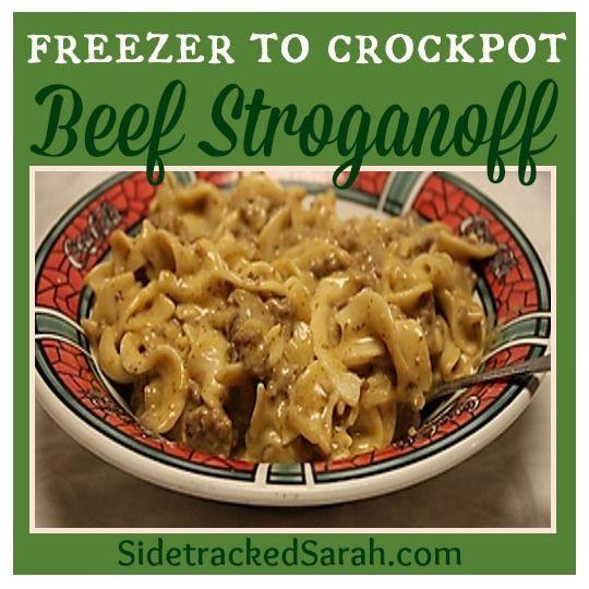 beef stroganoff freezer to crockpot   25+ Freezer to Crockpot Meals