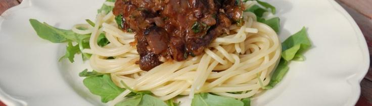 Bolognese med blåskimmel ost