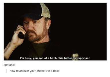 How to answer a phone.