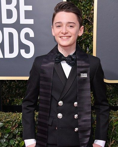Style Icon en potencia? #NoahSchnapp #GoldenGlobes #timesup I Foto: Getty Images
