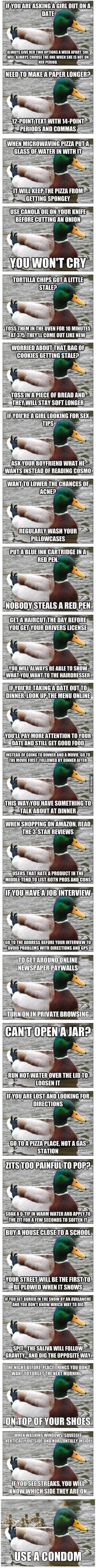 Bringing Actual Advice Mallard back to it's roots