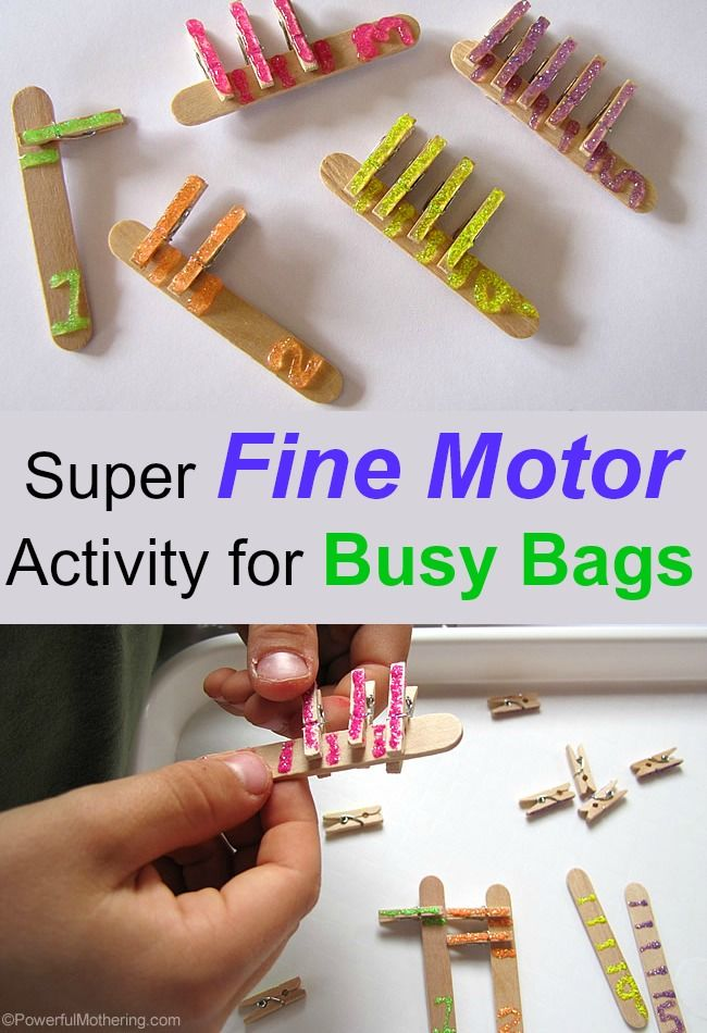 Super Fine Motor Activity for Busy Bags from PowerfulMothering.com