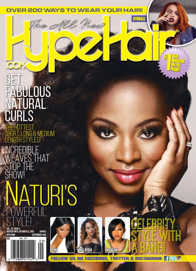 Power Star Naturi Naughton Covers Hype Hair September 2015 Issue!