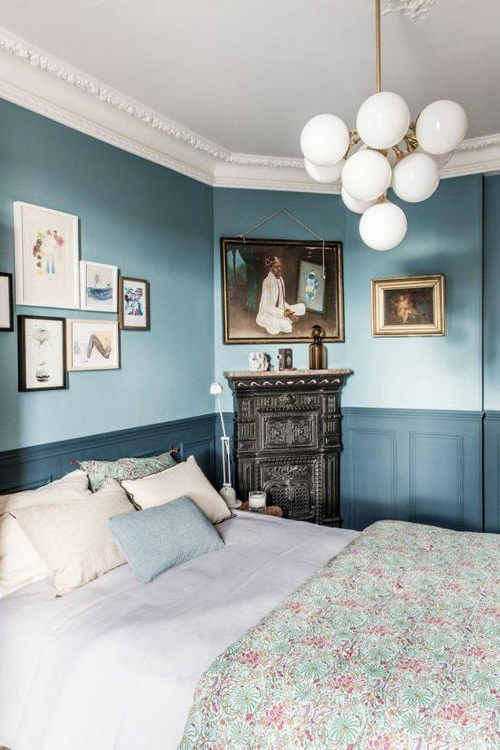 17 meilleures id es propos de salles de bains bleu fonc sur pinterest palette de couleurs. Black Bedroom Furniture Sets. Home Design Ideas