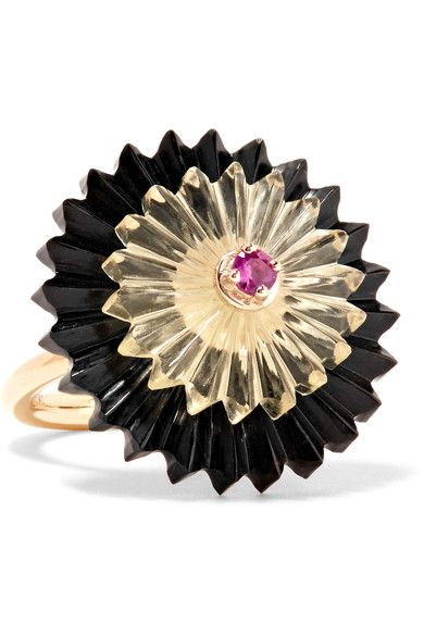 Black jade, total weight: 15.46-carats; lemon quartz, total weight: 6.55-carats; pink sapphire, total weight: 0.11-carats  NET-A-PORTER.COM is a certified member of the Responsible Jewellery Council