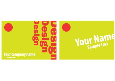 Fancy visit card design with yellow background. Free vector graphic design in Ai format