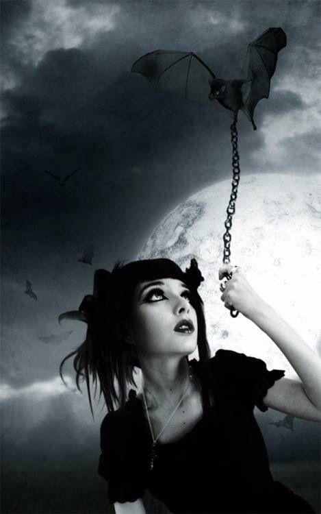 ~Gothic Art bat on a chain