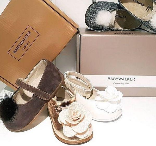 in x-mas mood! BABYWALKER luxury balarinas  #babywalker #babywalkershoes #christening #vaptistika #papoutsia