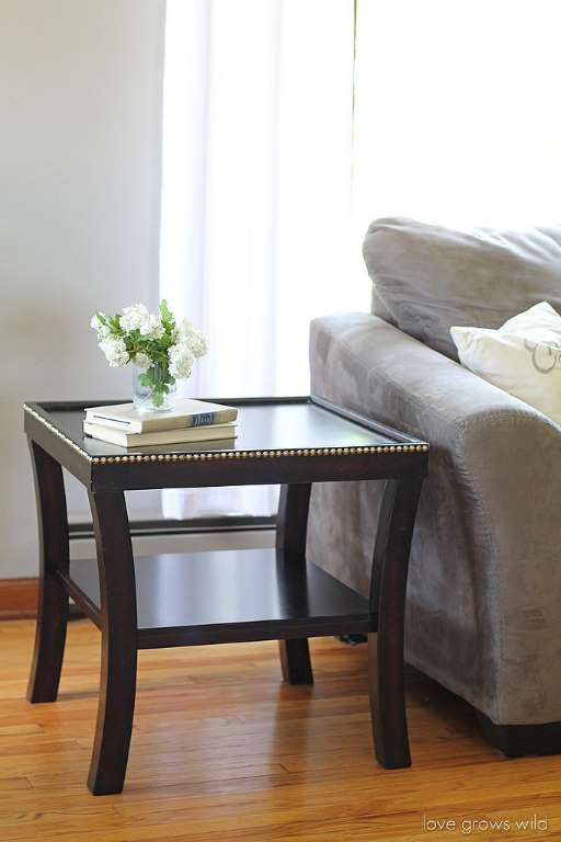 To give your table some studded spunk, all you have to do is find some nailhead trim, line it up whe... - Love Grows Wild