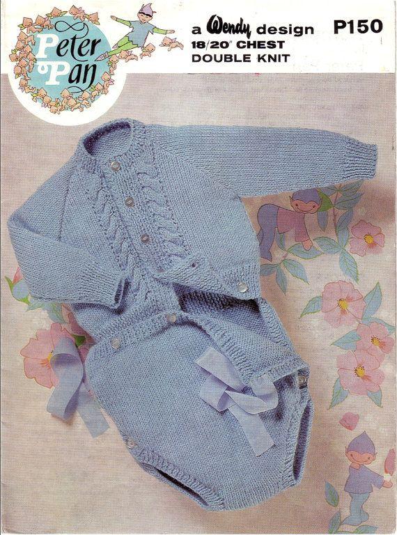 Vintage Pdf Baby Knitting Pattern Peter Pan P150