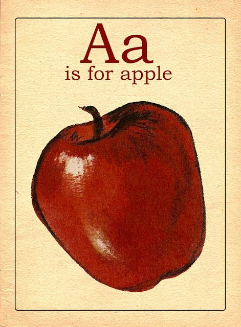Vintage inspired A-Z flashcards