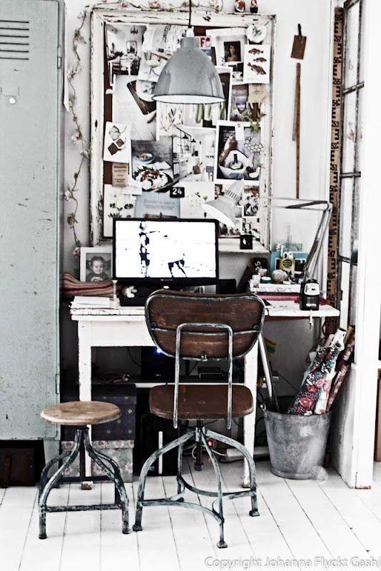deskMood Boards, Design Ideas, Inspiration Boards, Work Spaces, Vintage Offices, Home Art, Workspaces, Old Frames, Home Offices