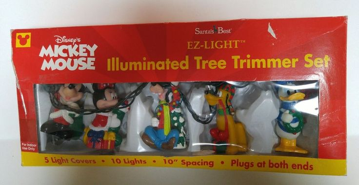 Mickey Mouse Illuminated Tree Trimmer Christmas Light Cover Set EZ Light 2000