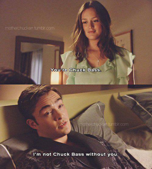 Blair & Chuck <3  aww chuck bass does have a soft side!