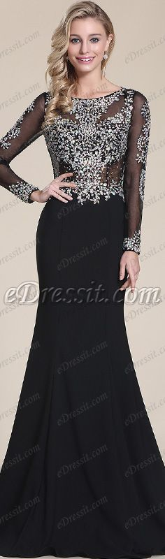 Black & sparkling! #edressit #dress #prom #gown #fashion