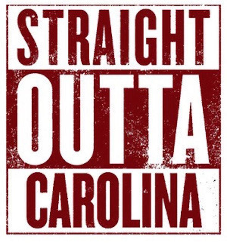 GAMEDAY Tee For South Carolina Gamecocks Fans. 'Straight Outta Carolina' Tee