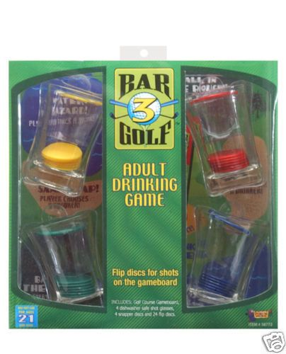 Bar Golf Drinking Game Liquor Alcohol Booze New in Box #Game