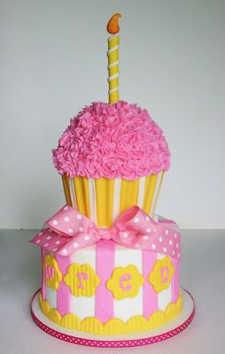 And Everything Sweet: Pink and Yellow Cupcake Theme